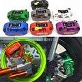 Rpm cnc pinças de freio da motocicleta scooter elétrico + 200mm/220mm bomba de freio a disco adaptador de suporte universal para yamaha honda