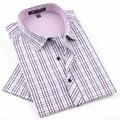 2017 NEW Brand Men's shirts Fashion Casual Plaid short sleeve shirt men Dress shirt spring summber style shirts for man