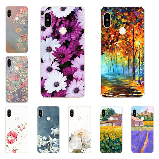 detailed look fb928 20cec US $1.42 5% OFF|xiaomi redmi note 5 pro case,Silicon Flower Plants Painting  Soft TPU Back Cover for xiaomi redmi note 5 pro protect Phone shell-in ...