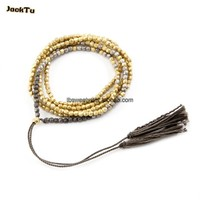 multicolor laser beads necklace for woman can wrapped as bracelet