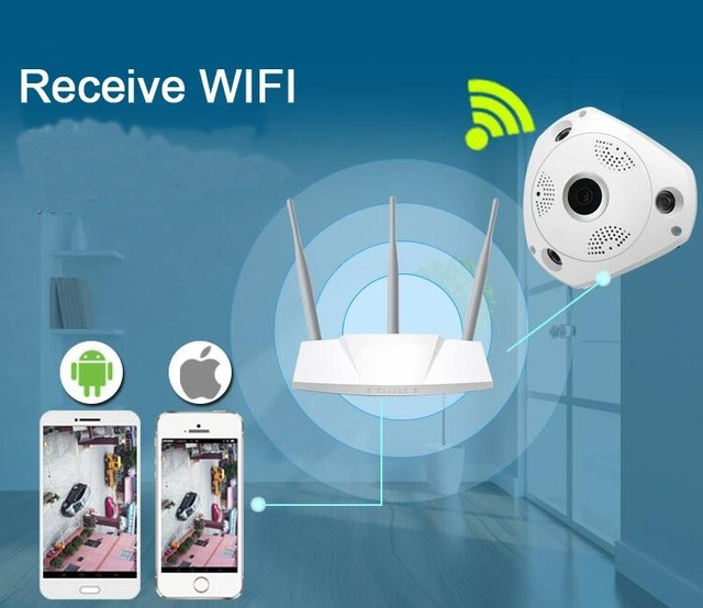 2 Way Voice 3D VR Camera 360 VR Panorama Video Camera CCTV HD 960P IP Camera Surveillance System 360 Cam Video Mini Camera