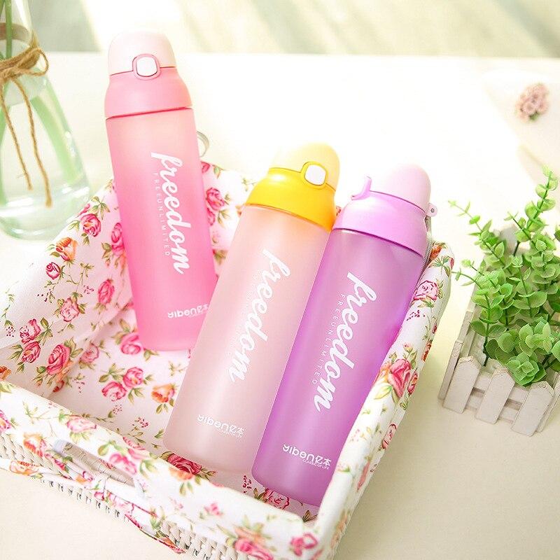 5 de Plástico De color mi botella de agua deportes hervidor de viaje botella Paj