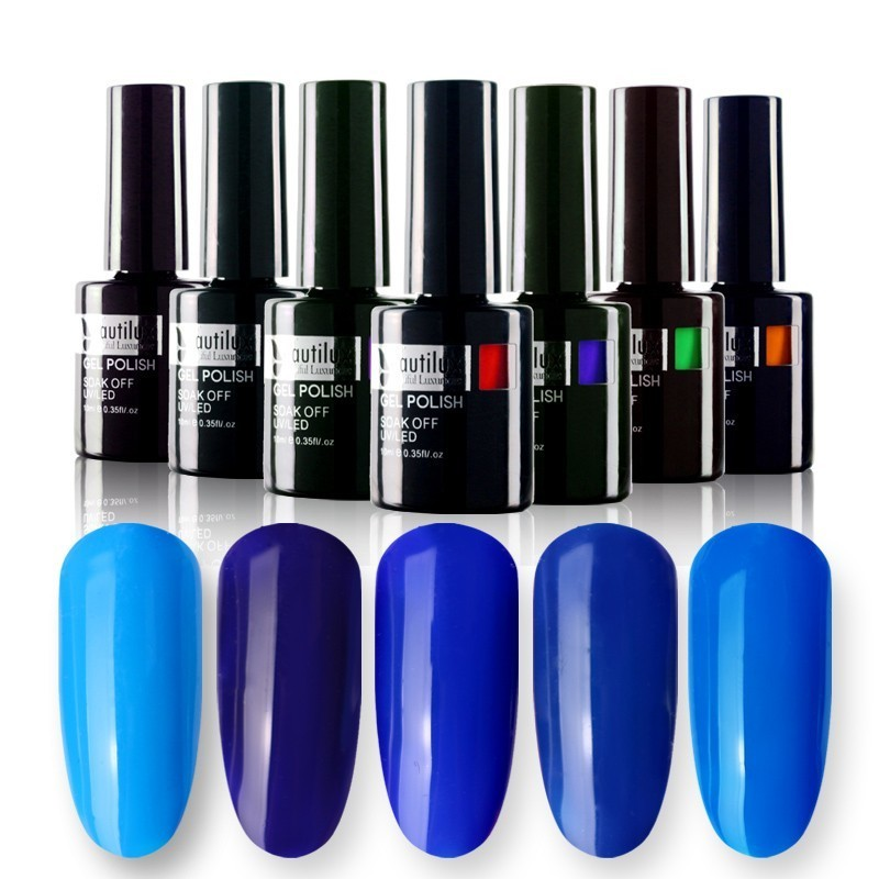 Hot Sale 1pc Miljøvenlig UV LED Soak Off Nail Art Blue Gel Neglelak - Negle kunst