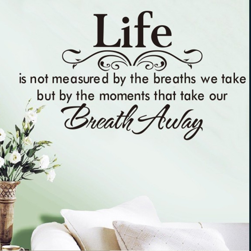 Life Is Not Measured Quote Life Is Not Measuredthe Breaths Wall Sticker Home Decoration