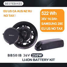 Bafang мотор BBS01B 36 В 250 Вт moteur electrique velo electrique batterie ebike комплект 522WH/36v14. 5ah Samsung 29E ЕС США нет налога