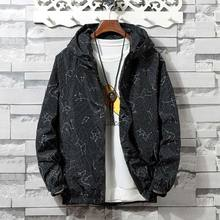 zozowang Snowflake point Bomber Jacket Men Hip Hop Slim Fit Flowers Pilot Bomber Jacket Coat Men Hooded Jacket Plus Size XS-4XL недорого