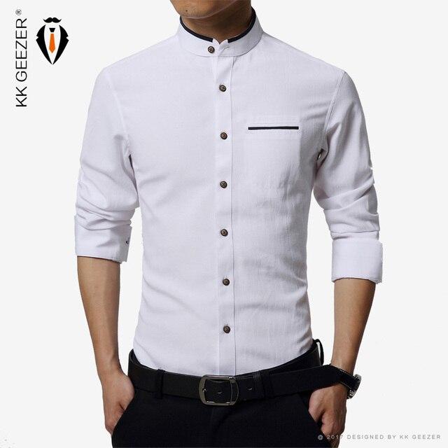 High quality mens dress shirt long sleeve cotton male for Soft cotton dress shirts