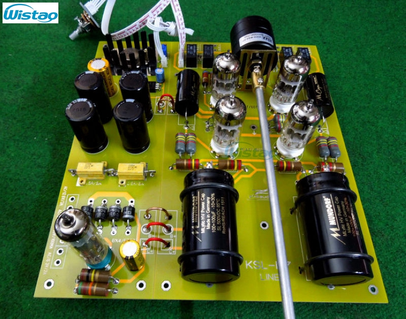 Tube Preamplifier Finished PCBA Luxury Version 6X4/EZ90 12AY7/6072WA Excluding Tubes &Tansforemer The Best Sound HIFI Audio DIY tube mm phono stage amplifier board pcba ear834 circuit vinyl lp amp no including 12ax7 tubes riaa hifi audio diy free shipping