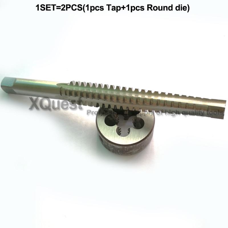 2PCS HSS Right Hand Trapezoidal Thread Tap And Die Set Tr8 Tr10 Tr12 Tr14 Tr16 Tr18 Tr20 Metric Screw Taps Dies T8 T10 T12 T14