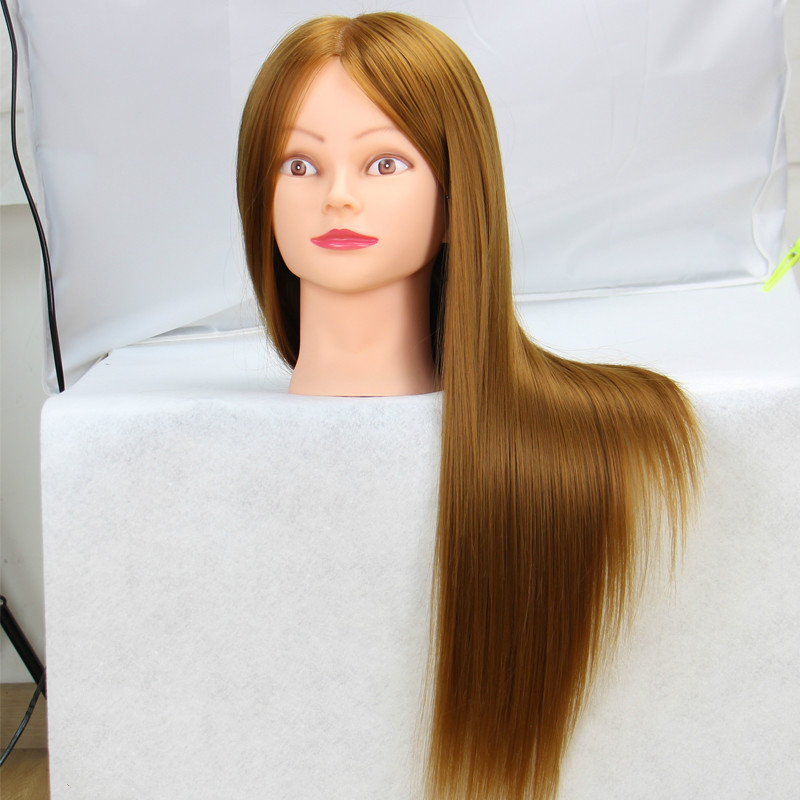 Tête de Mannequin 60cm tête de poupée coiffure factice tête de poupée coiffure professionnelle perruque tête Mannequins coiffeur
