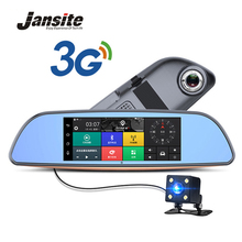 Best Buy Jansite 7″ Car DVR camera Rearview Mirror Android 5.0 3G Network Video Recorder GPS Navigation Dual Lens Automobile Dash cam