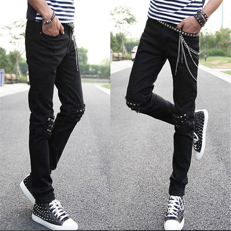 Biker Jeans Punk Chain