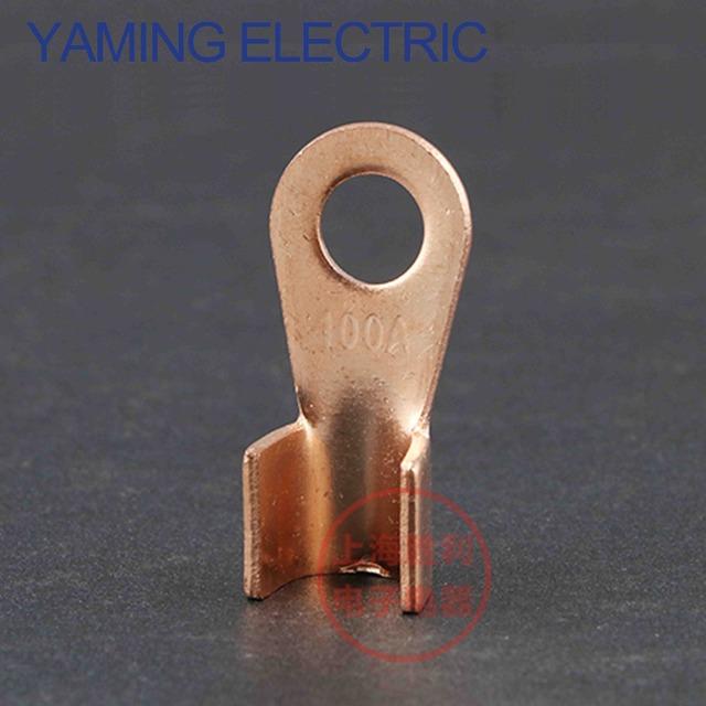 5 sztuk 100A miedzi złącze kabla baterii do zaciskania terminali 10-25mm2 drutu OT-100A naga złącze P85 tanie tanio Splice SBLSBR