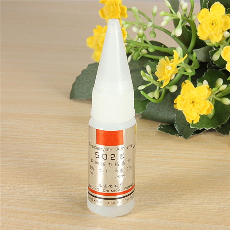 Best Promotion 1pcs New 502 Superglue Instant Quick-drying Glue Cyanoacrylate Adhesive Strong Bond Fast For Leather Rubber Metal Wood Glue