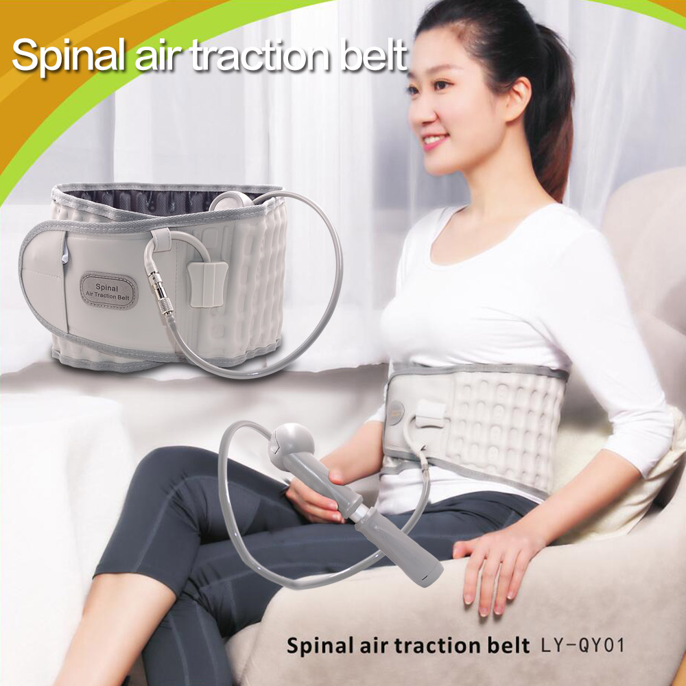 Brace Support Belt Physio Decompression Waist Lumbar Traction Belt Therapy Backache Pain Relieve Back Massager gift for Parent relieve pain relax massager heat belt infrared therapy heating belt healthy waist support acupuncture digital stimulator device