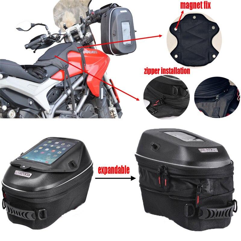 Мотоцикл механических кольцо и магнит Танк Bag Водонепроницаемый Racing посылка Сумки для Suzuki GSX R 600/750/650F /1250F