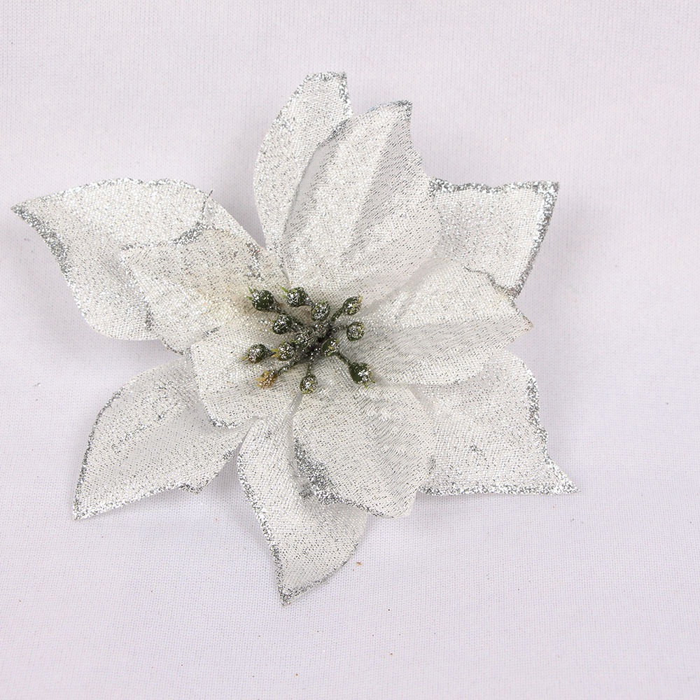 10 beautiful exquisite artificial glitter flower Christmas tree Christmas family wedding decoration