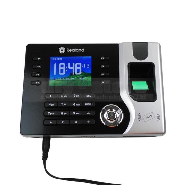 DIYSECUR 2.4 polegadas Tela TFT a Cores de Impressão Digital E ID Card Reader Time Clock + Tcp Ip + Software + Usb Download