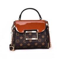 Bags Handbags Women Famous Brands Luxury Handbags Women Bags Designer Shoulder Bags Bright leather splicing bag.