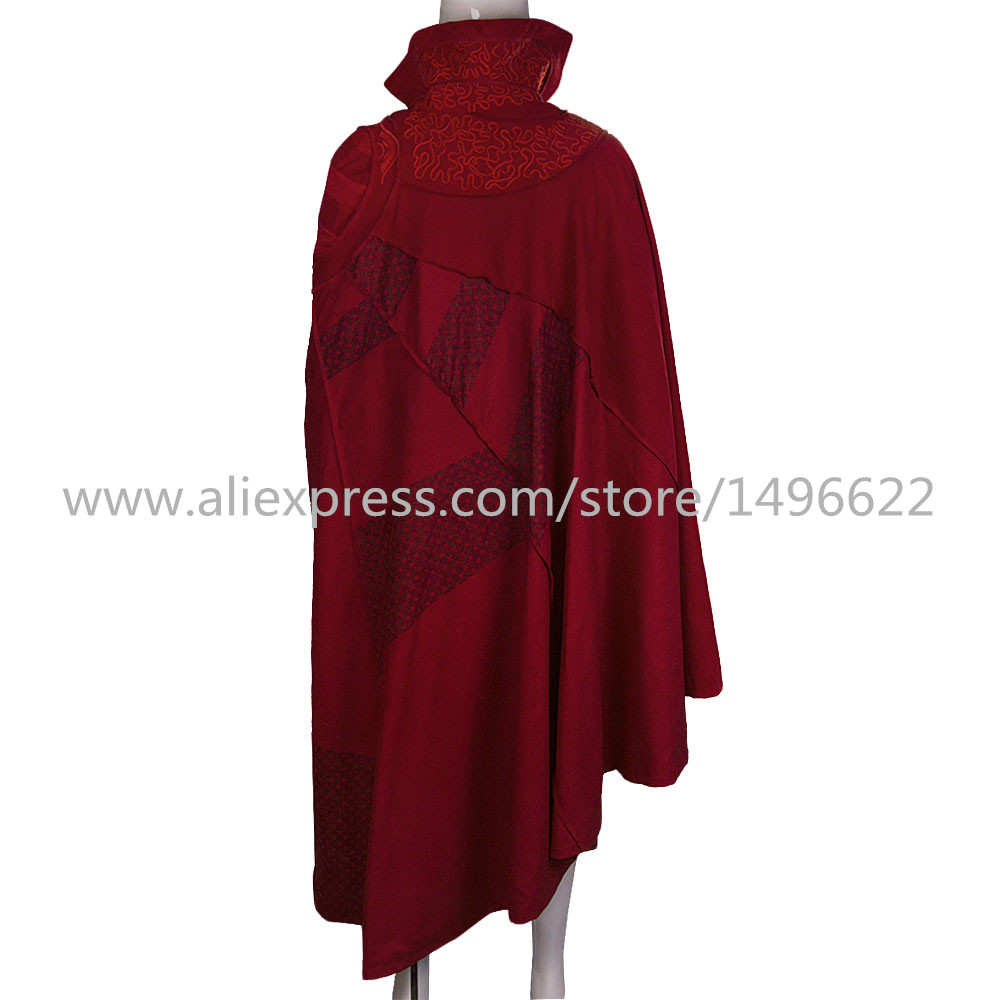 Doctor Strange Costume Kids and Adult Cosplay Steve Red Cloak Costume Robe Halloween Costume Party (3)
