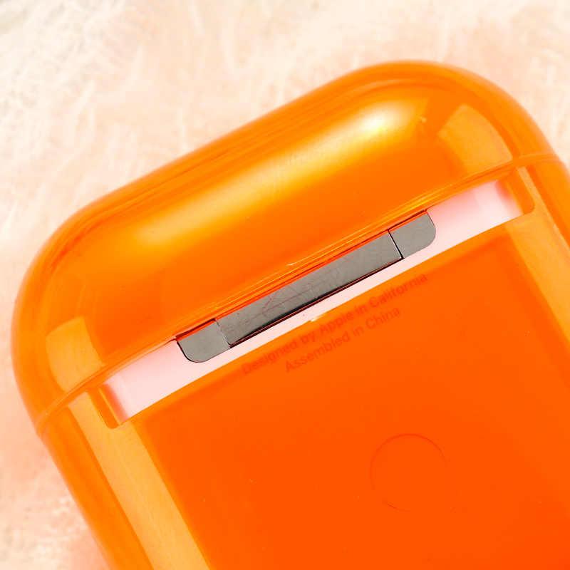 용 에어팟 케이스 캔디 색상 투명 커버 에어 포드 2 이어폰 보호대 에어팟 Pro 충전 하드 Coque