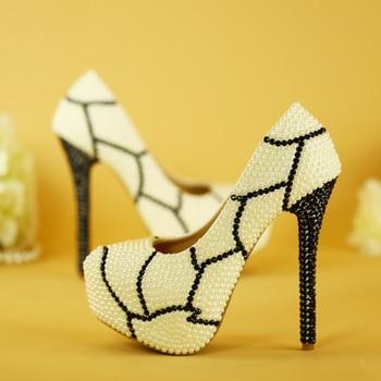 Grande Table Ronde | Imprimé Léopard Chaussures à Talons Hauts Pour Femmes Noir Blanc Perle Perceuse à Eau Imperméable Table Robe Paryt Grande Taille Neutre à Antique