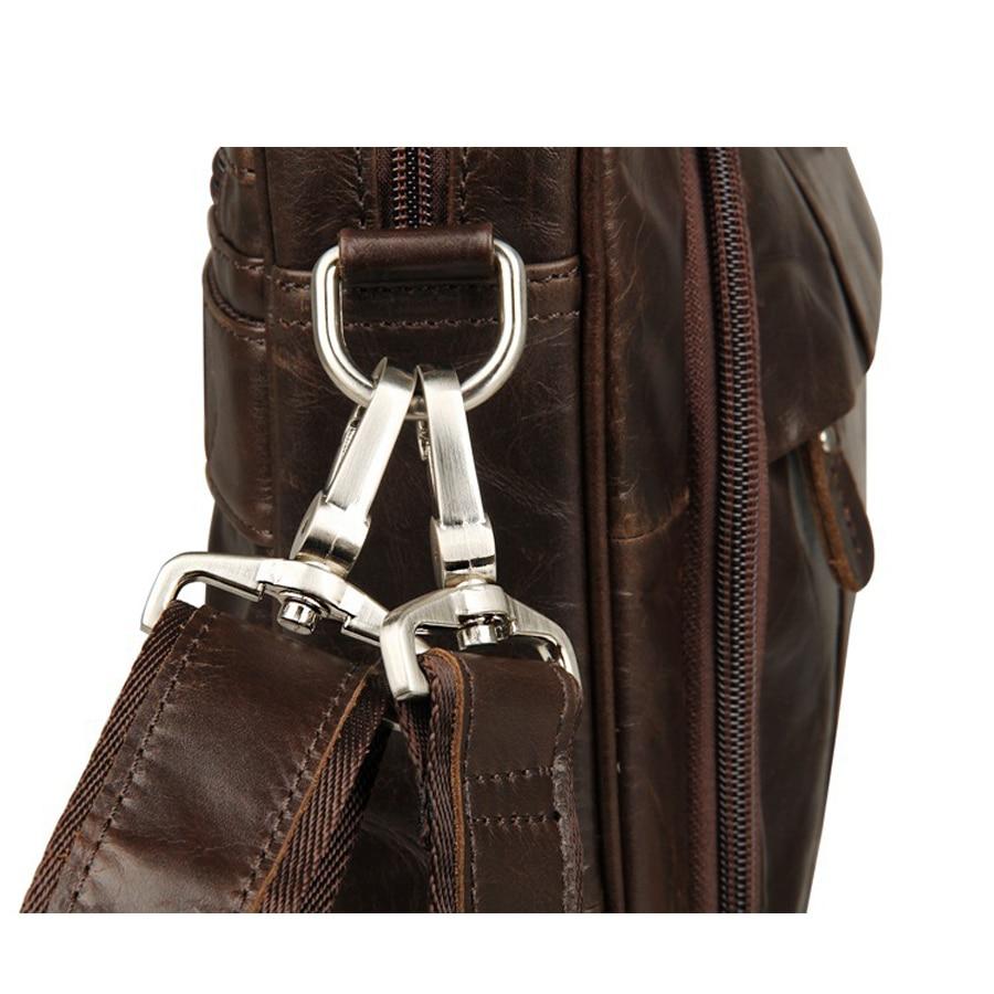 homem de couro genuíno bolsas Tipo : Business Messenger Bags, laptop Messenger Bags,