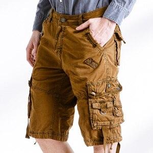 Image 5 - Quân đội Ngụy Trang Cargo Shorts Làm Việc Bermuda Nhiều Túi Thương Hiệu Quần Áo Baggy Shorts Quân Sự 100% Cotton Thường Ngắn Homme 252