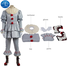 new arrival scary clown cosplay costume penny wise costume halloween costumes for men custom made