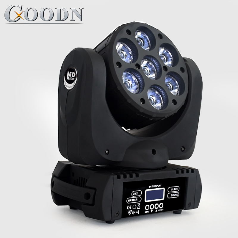 Led Wash Beam Rgbw 7x12w Moving Head Light DMX 512 15Channels Dj