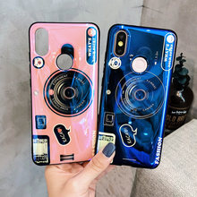 3d camera TPU case For xiaomi mi 8 9 se lite A2 A1 max 2 3 pro redmi note 7 5 6 pro K20 pro case cover blue ray soft silicon p(China)