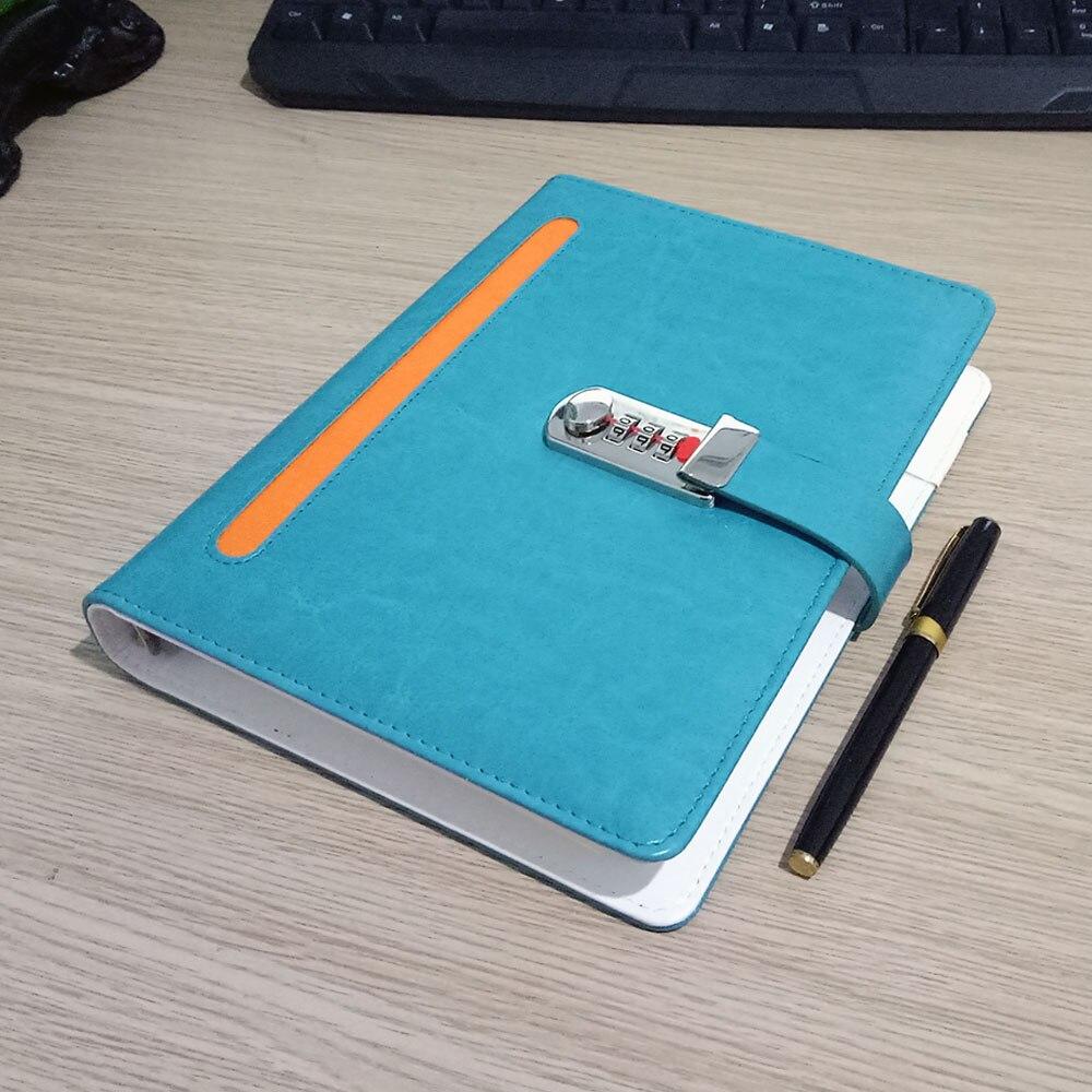 Nový kožený zápisník notebooku se zámkovým kódem - Bloky a záznamní knihy - Fotografie 3