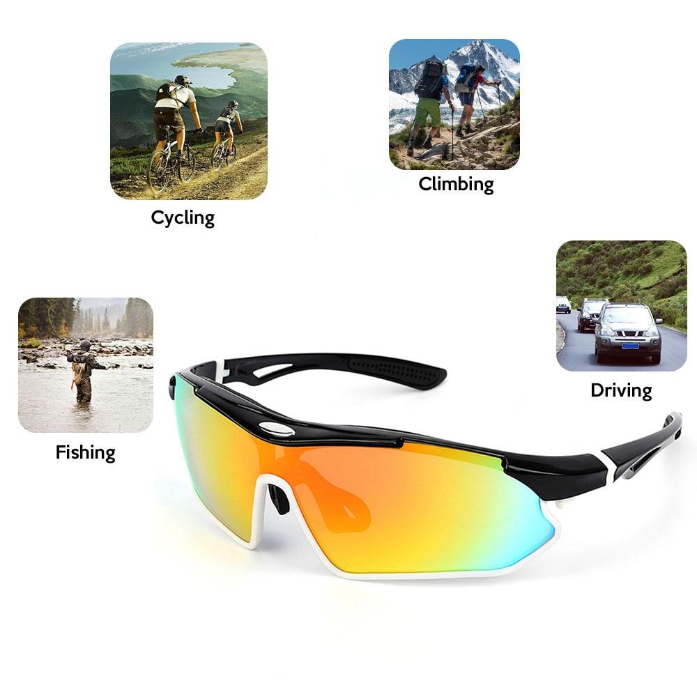 9d9ba6ab4ef Lixada Polarized Cycling Sunglasses Bike Bicycle UV400 Goggles Sports  Driving Motorcycling Fishing Skating Traveling Eyewear Glasses