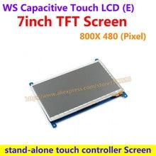 WS 7inch Capacitive Touch LCD (E) Drive Demo Developmen Board 800*480 Multicolor Graphic LCD stand-alone touch controller Screen