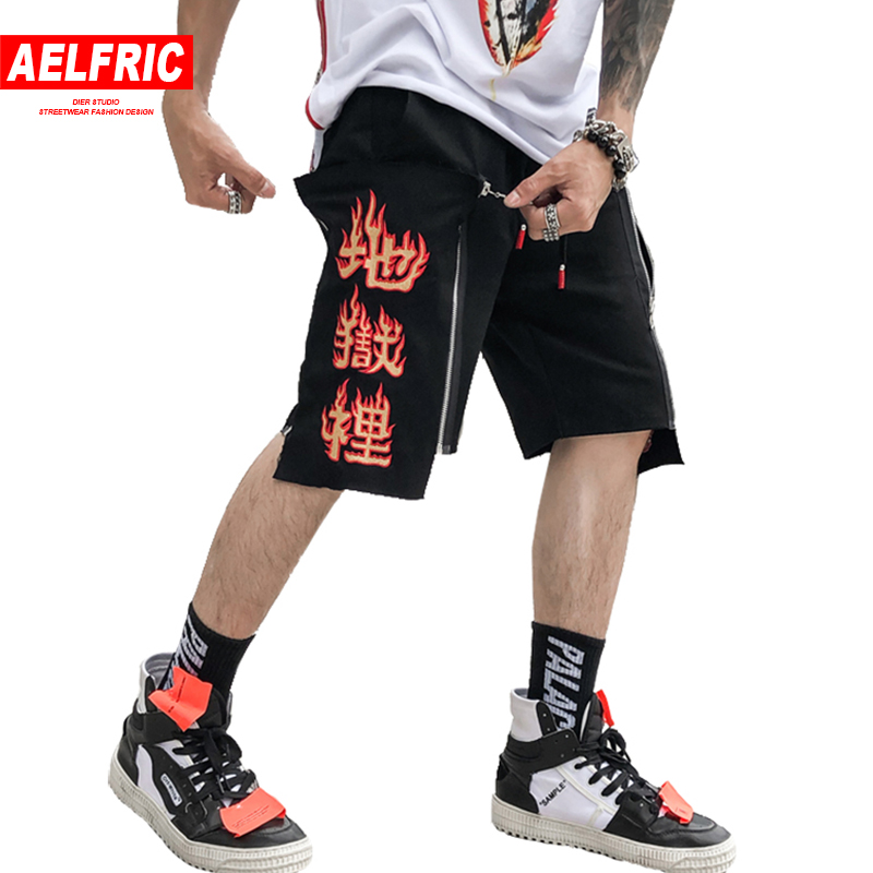 be521f6650 AELFRIC Men Summer Board Shorts Brand Mens Flame Letter Printed Casual  Short Joggers Holiday Beach Shorts Active Streetwear AP17
