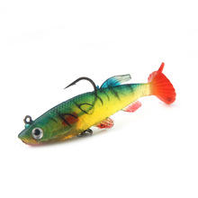 Atriptime 8-9cm 14g Lead Fish T Tail Fishing Lures Artificial Wobblers Lifelike Soft Baits Bass Tackle Hook Isca Pesca Soft Lure hengjia 9g 9cm spinner lure fishing lures artificial baits metal bionic fish hook isca artificial fishing tackle rotate sequins