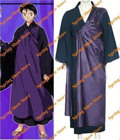 송료 무료 이누야샤 미로 쿠 코스프레 의상 애니메이션 가사 야 유니폼
