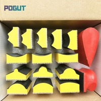14pcs Set + 16pcs Set Special Shape Abrasive Block Hand Sanding Pad Base for Hook & Loop Sanding Disc Paper