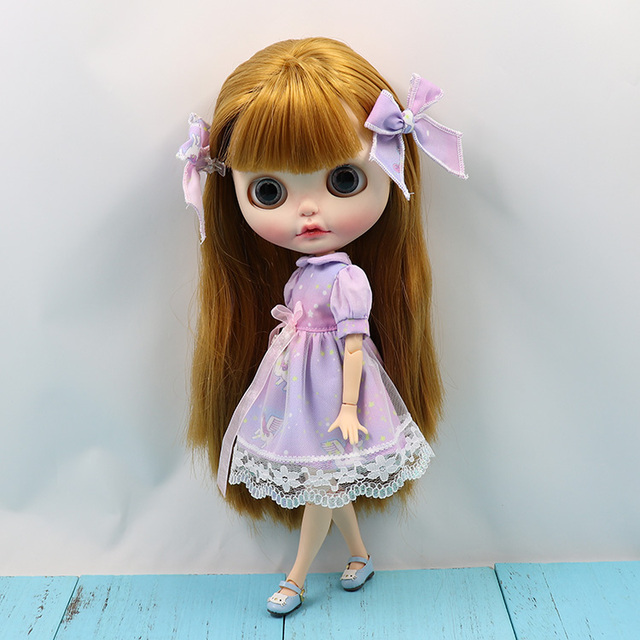 Neo Blythe Doll Unicom Purple Dress
