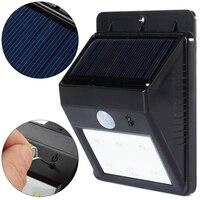 2 sztuk/partia Nowy Przyjeżdża 6 Solar Power LED PIR Czujnik Ruchu Ściany Światła Wodoodporny O Wysokiej Jakości Na Zewnątrz DOPROWADZIŁY Słonecznej światło