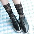2017 nueva primavera summer moda de encaje delgado calcetines atractivos de las mujeres del tobillo de la vendimia kawaii calcetines de las niñas calcetines transparentes