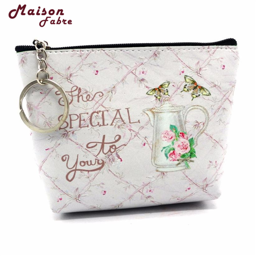 2018 New Mini Coin Purses 1pc Women Girls Lady Leather Small Wallet Coin Purse small Clutch Bag High Quality