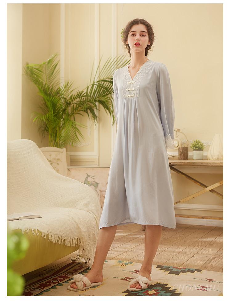 Vintage nachthemd stijl kant 25