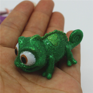 Image 5 - 2piece/lot  New Style Tangled Figure toys Chameleon Pascal Green Chameleon and Rapunzel princess figure toys