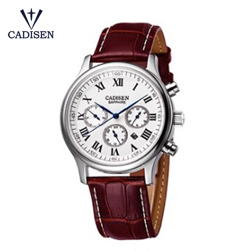 все цены на  CADISEN Retro Design Men Watches 2017 Causal PU Leather Band Analog Alloy Quartz Wrist Watch Relogio Masculino Hombre Clock 2017  в интернете