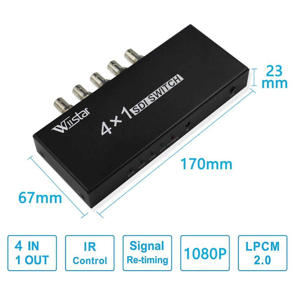 wiistar SDI Switcher 4x1 HUB SDI Intelligent Switch Extender 4 till 1 - Säkerhet och skydd - Foto 2
