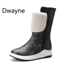 2018 Custom Made Women Boots Plush Warm Snow Boots Ladies Winter Mid-calf Boots Waterproof Snow Botas Warm Boot цена 2017