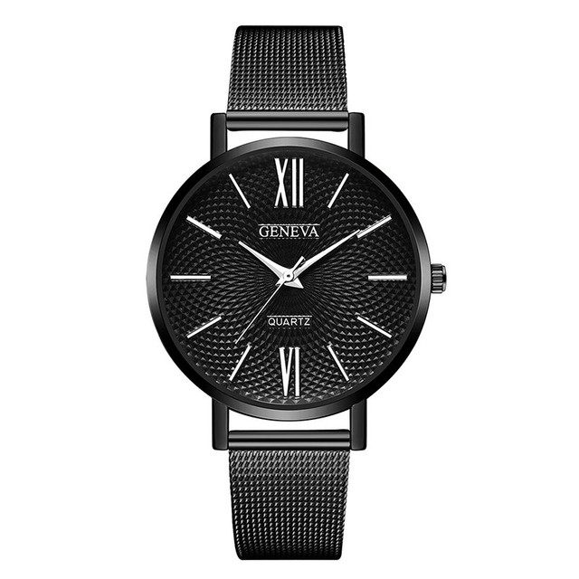 Geneva Luxury Women's Thin Stainless Steel Band Analog Quartz WristWatch Watch L