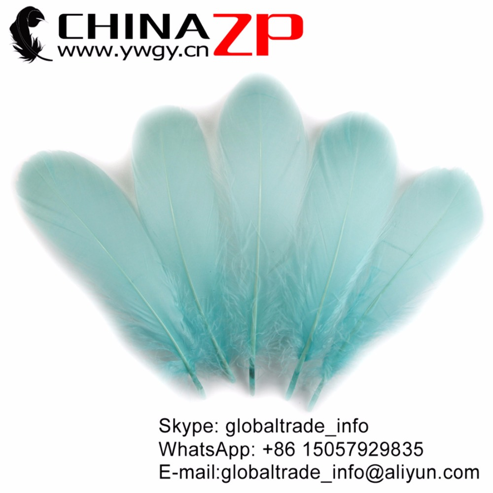 CHINAZP 200 pcs/lot Fantastic Decoration Dyed Pale Blue Soft Goose Nageoires Plume Feathers for Wedding Hair Accessories
