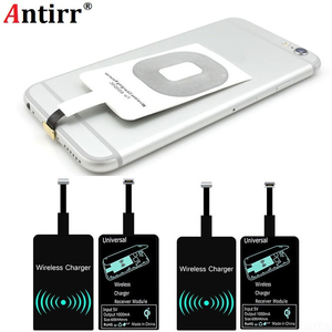 Image 2 - ユニバーサル受信機アダプタパッドスマート受容体チップモジュールチー標準ワイヤレス充電器トランスミッタパッチ iphone 6 6S 7 プラス